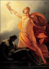"""""""Prometeo le trae fuego a la humanidad"""" (1817), por Heinrich F. Fuger"""
